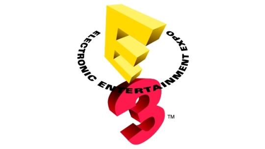E3 logo white